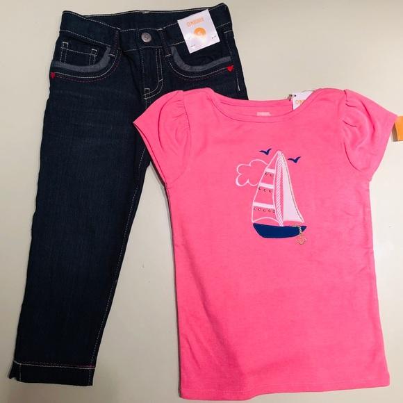 Outfit  Capri jean with short sleeve shirt. NWT. Gymboree 5e84c837225